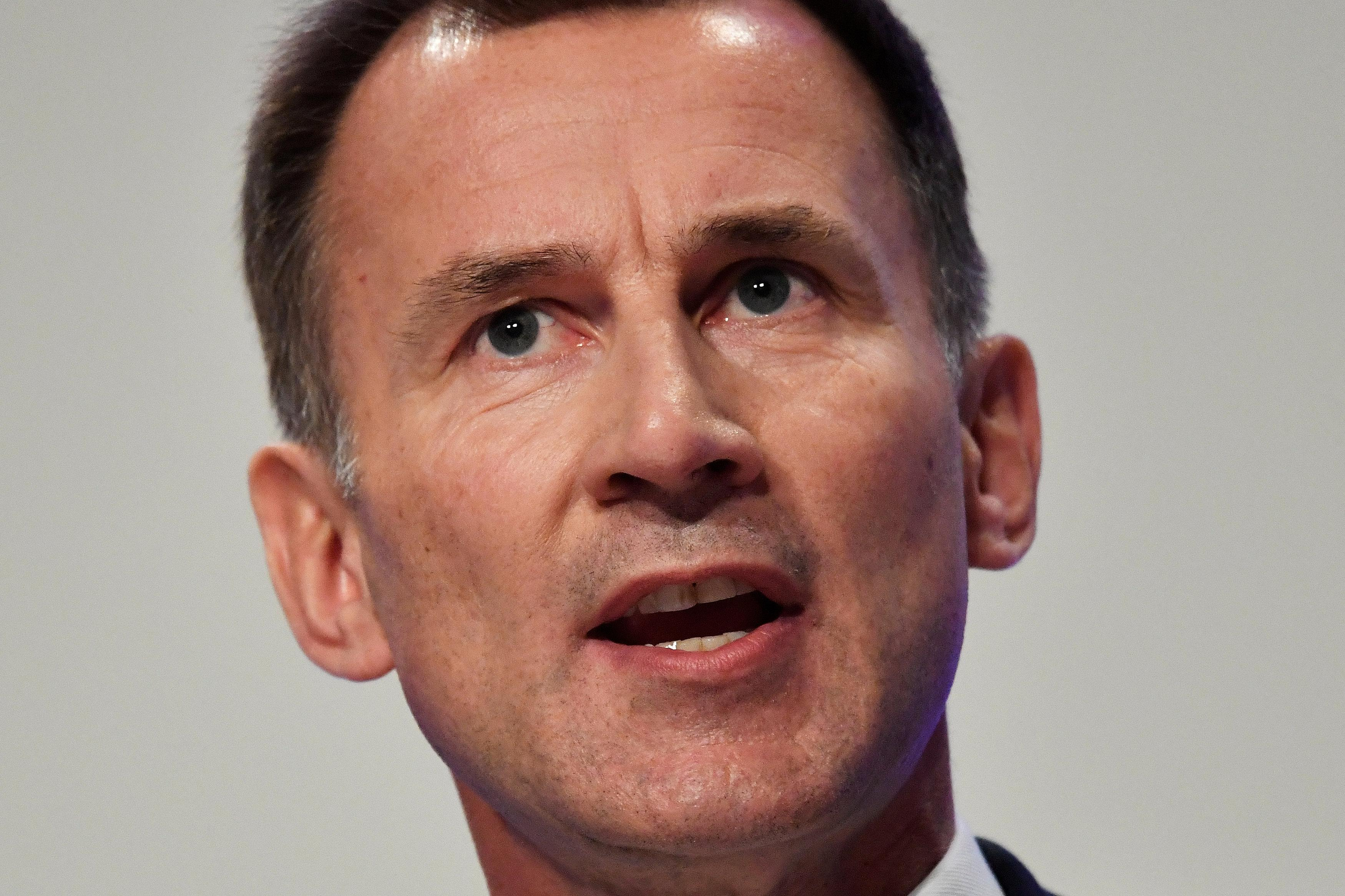 Britain's Foreign Secretary Jeremy Hunt addresses the Conservative Party Conference in Birmingham, Britain September 30, 2018. Toby Melville