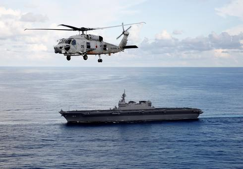 On board Japan's helicopter carrier Kaga