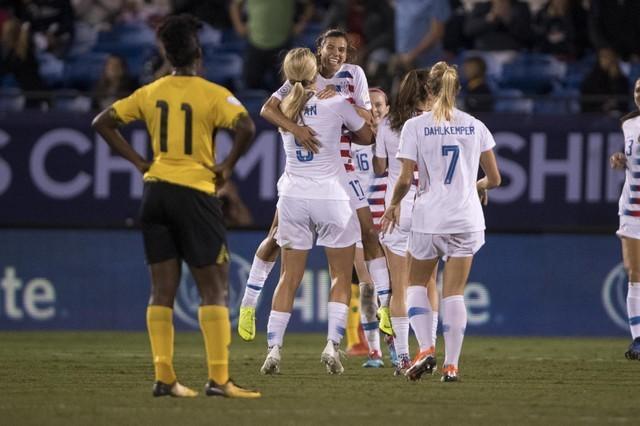 U S  women's soccer team routs Jamaica, seals World Cup berth - Reuters