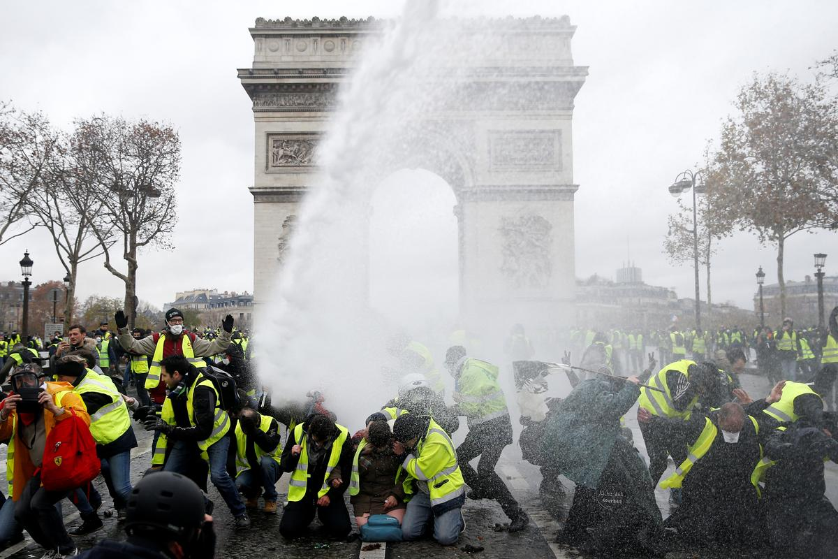 French police clash with 'yellow vest' protesters in Paris, 169...