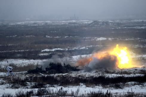 Ukraine holds military exercises amid standoff with Russia
