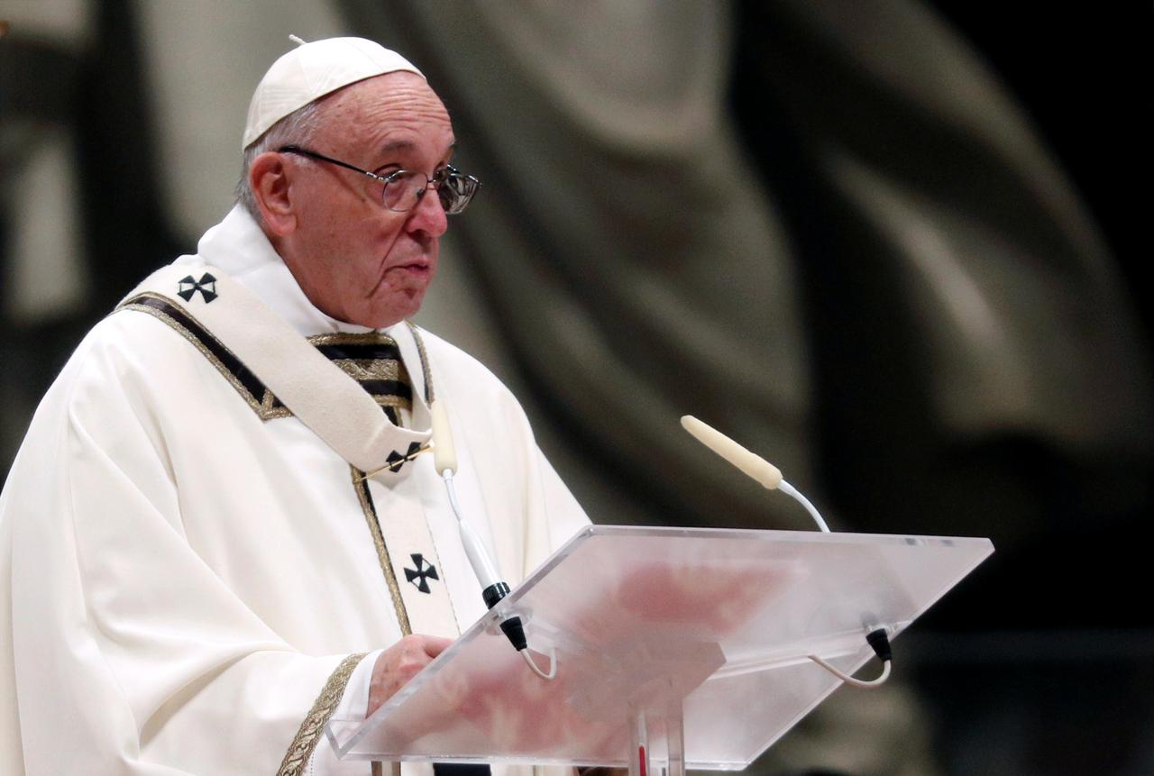Image result for Remember the poor and shun materialism, pope says on Christmas Eve