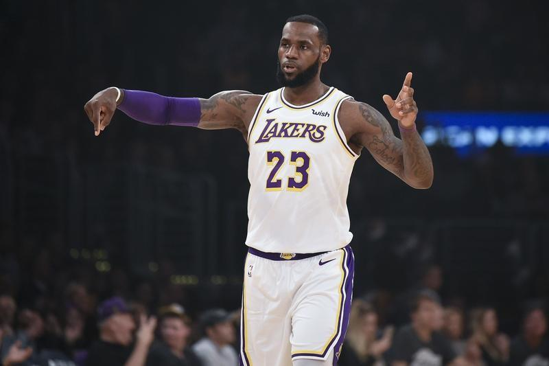 8da687744300 ... forward LeBron James (23) reacts during the first quarter against the  Memphis Grizzlies at Staples Center. Mandatory Credit  Kelvin Kuo-USA TODAY  Sports