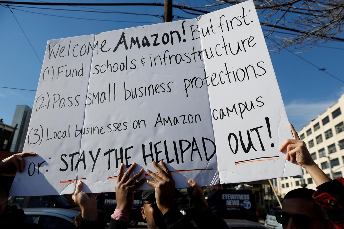 Cities shunned by Amazon revive hopes for HQ given New York