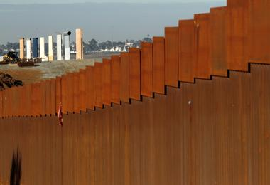 FILE PHOTO: The prototypes for U.S. President Donald Trump's border wall...