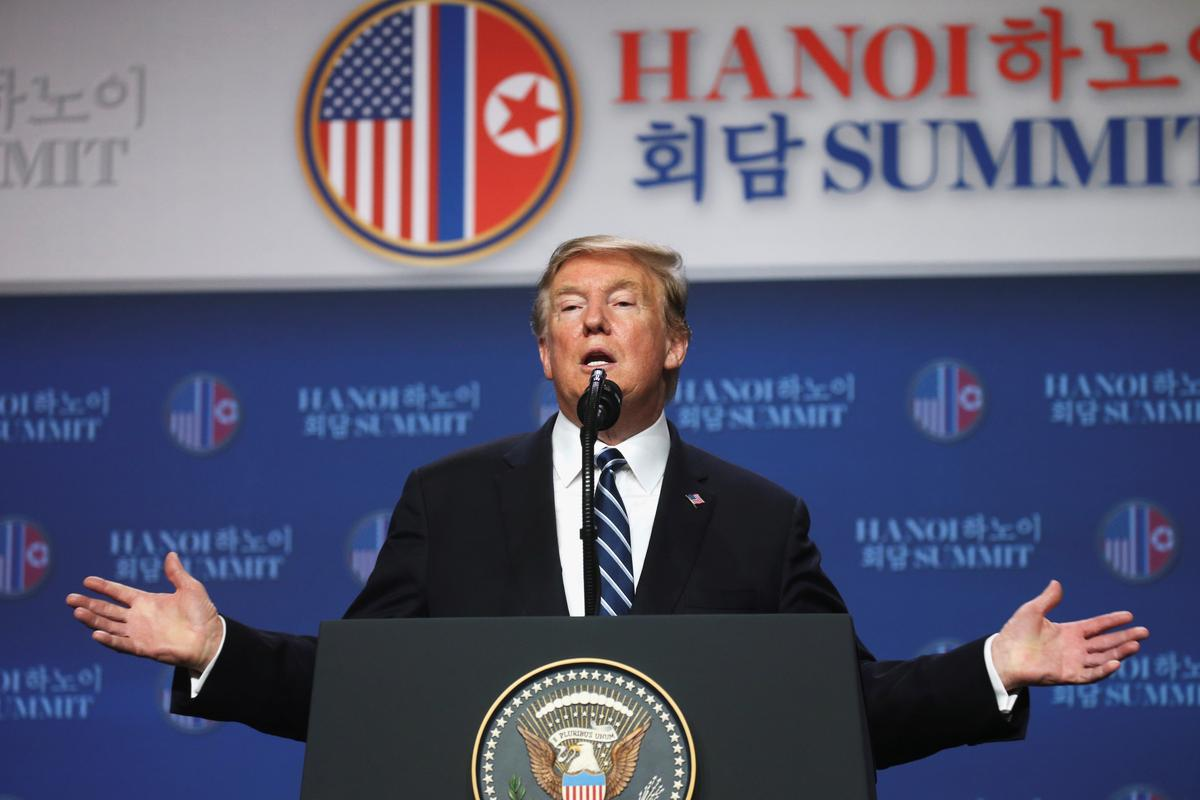 Trump walks away from deal with North Korea's Kim over sanctions demand