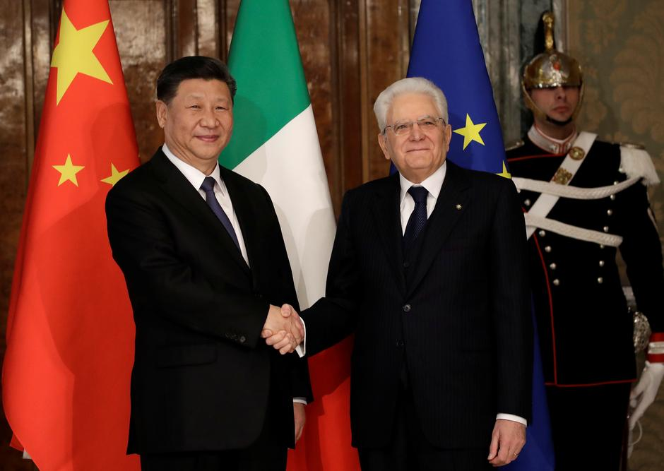 Image result for italian president and xi jinping