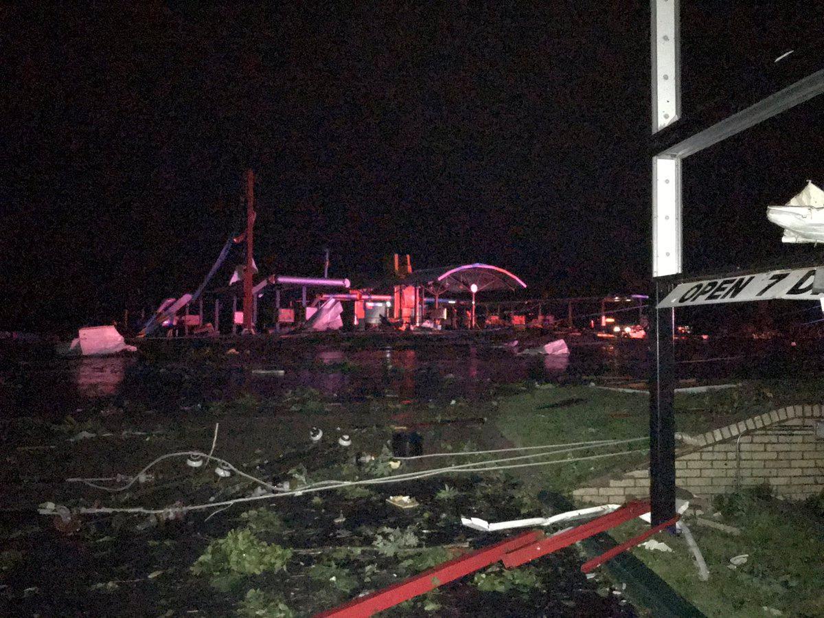Tornadoes kill three, hit U.S. Plains state capital