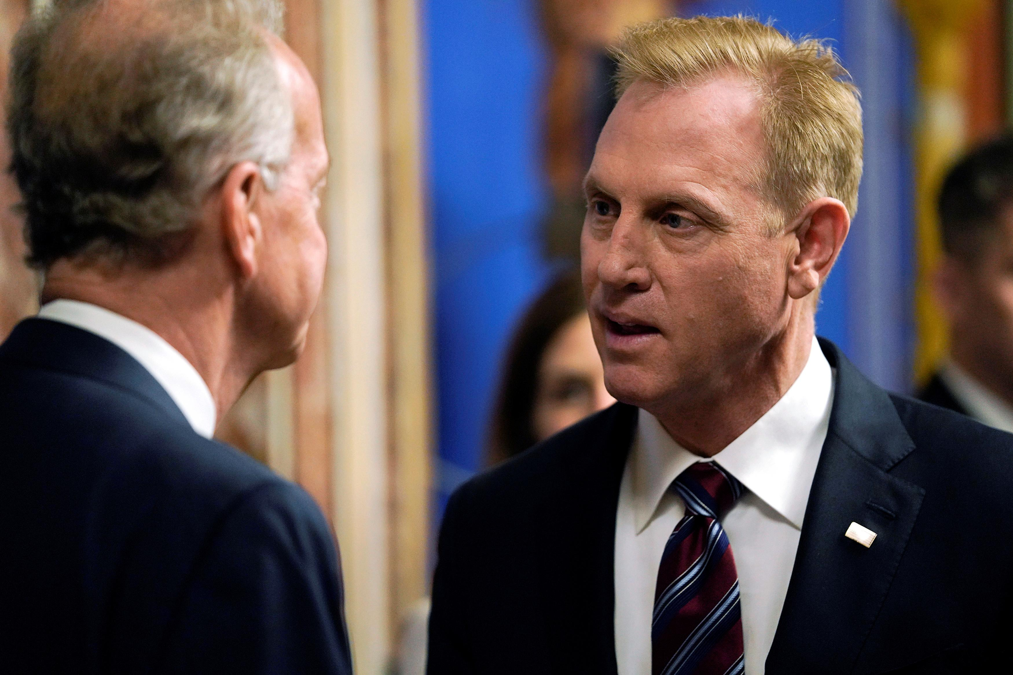 Acting Defense Secretary Patrick Shanahan arrives to testify before a Senate Appropriations Defense Subcommittee hearing on the proposed FY2020 budget for the Defense Department on Capitol Hill in Washington, U.S., May 8, 2019. Aaron P. Bernstein