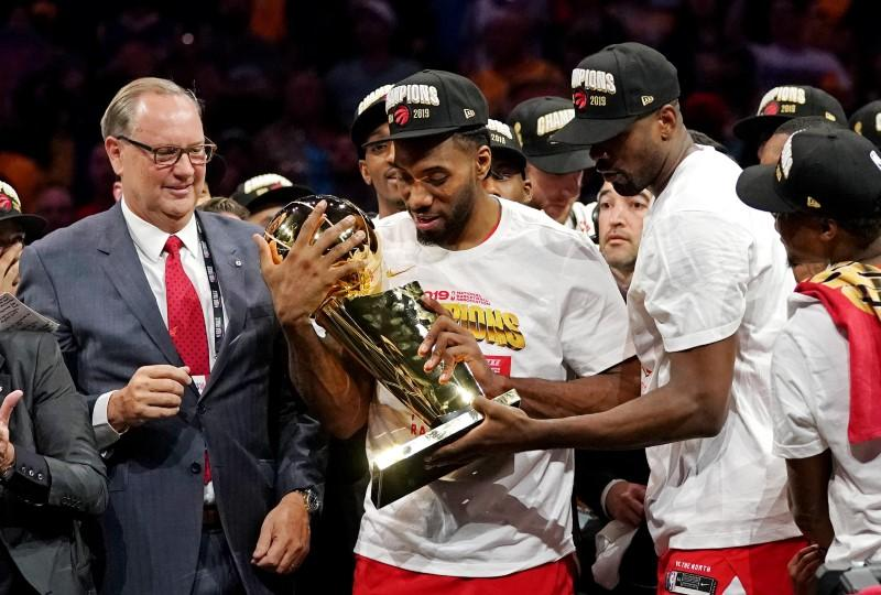 Raptors' Leonard joins elite company by winning Finals MVP award
