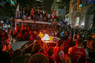 Toronto celebrates as Raptors win first NBA title