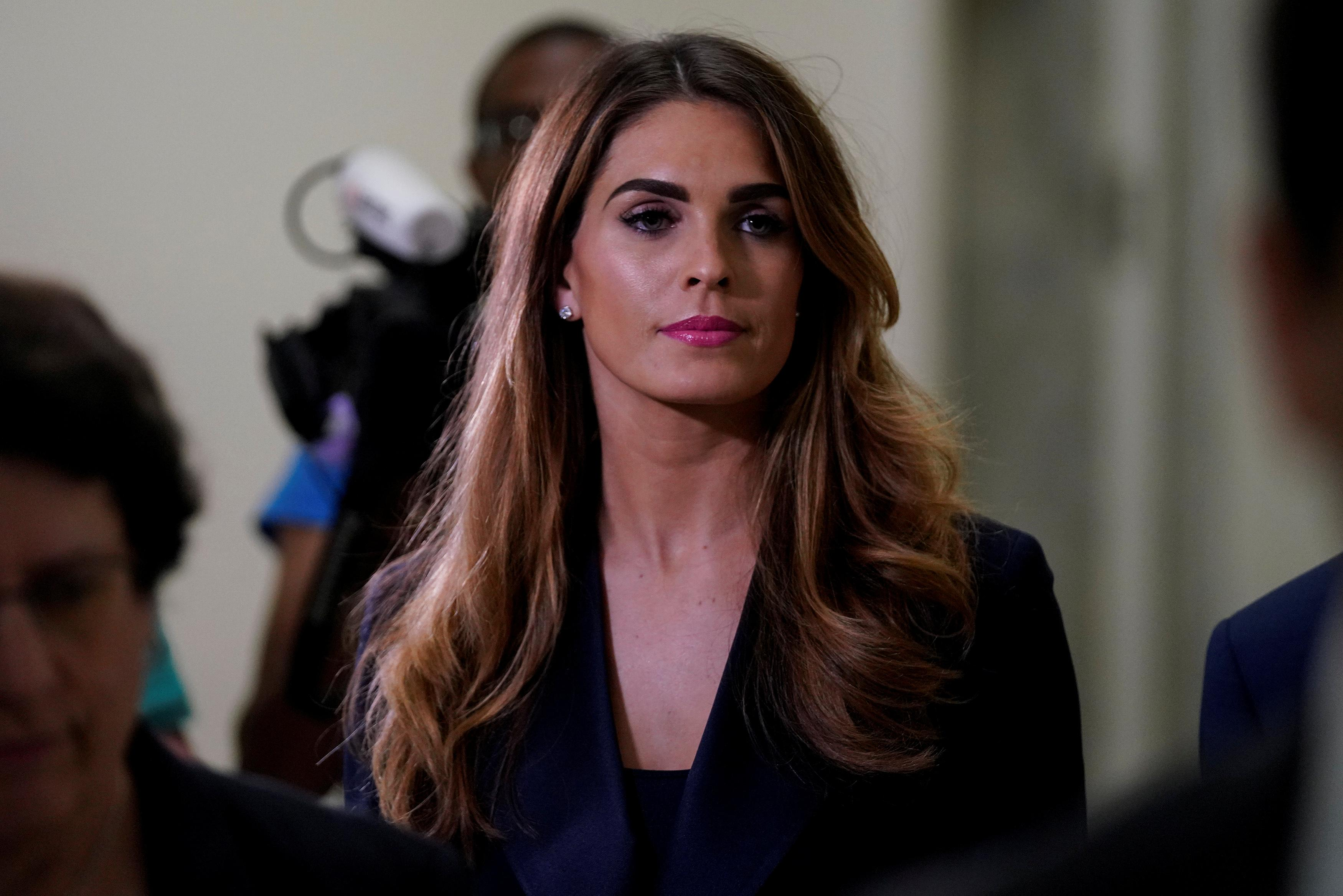 Former Trump aide Hope Hicks arrives for closed congressional testimony