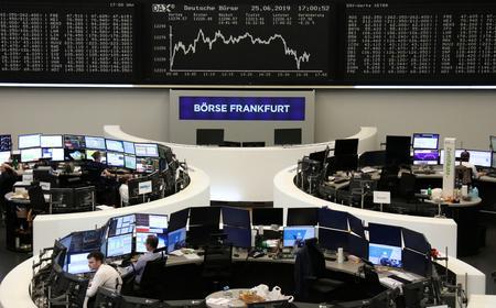 Global stocks gain as trade talk hopes rise, rate-cut pressure ebbs