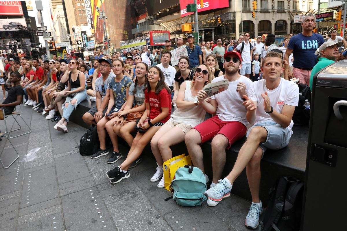 Women's World Cup fans party in New York's Times Square as U.S. tops France
