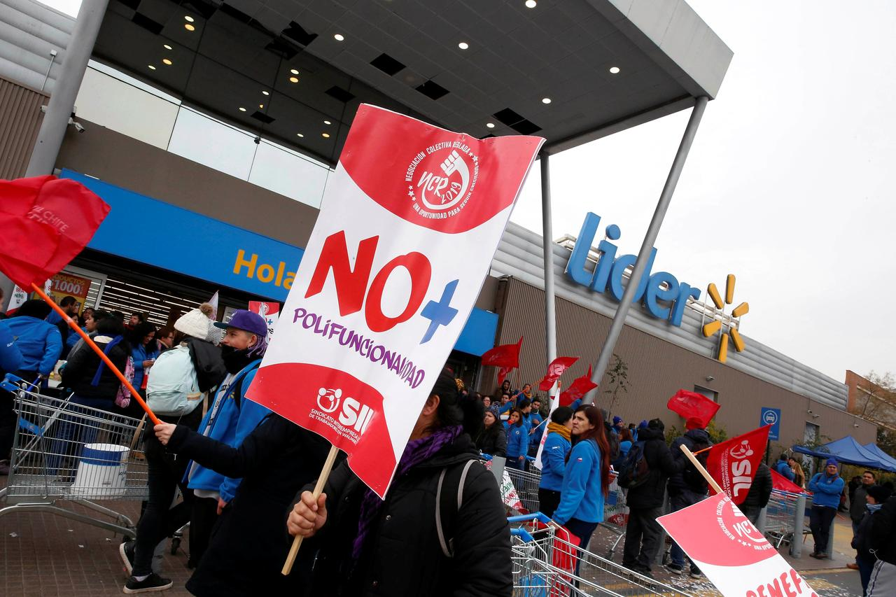 Workers at Chilean Walmart retailers strike over wages - Reuters
