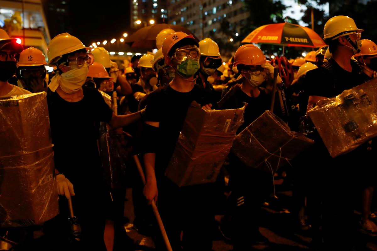 Clashes Break Out As Hong Kong Protesters Escalate Fight In