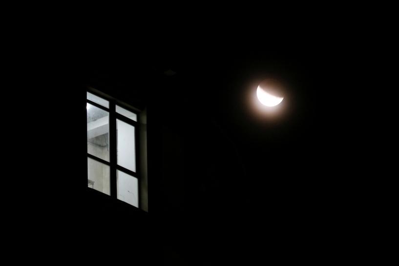 Partial lunar eclipse on Apollo 11 launch anniversary