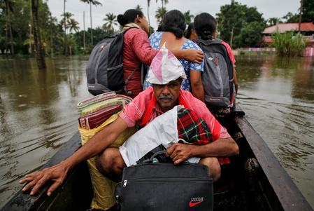 Floods kill at least 28 in southern India, displace thousands