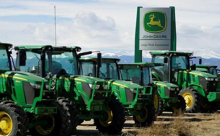 Farm equipment maker Deere's dealers reel from trade war, bad weather