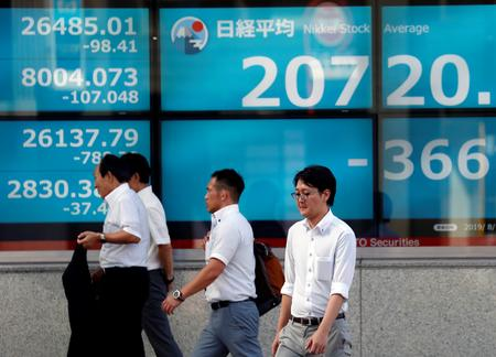 Asia shares jolted by Hong Kong unrest, Argentine peso crash