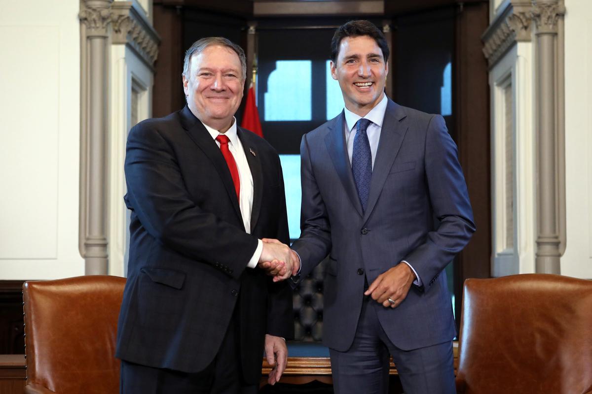 Pompeo vertel dat Trudeau US gefokus het op die vrylating van twee Kanadese in China