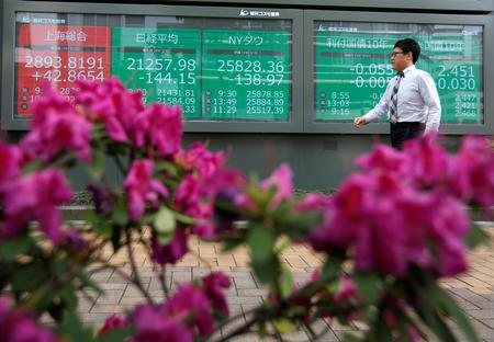 Asian stocks cautious ahead of Powell's speech; yuan at fresh 11-1/2 year low