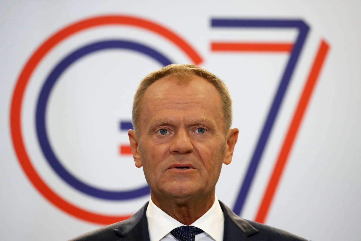 EU's Tusk sees even more reasons to keep Russia out of G7