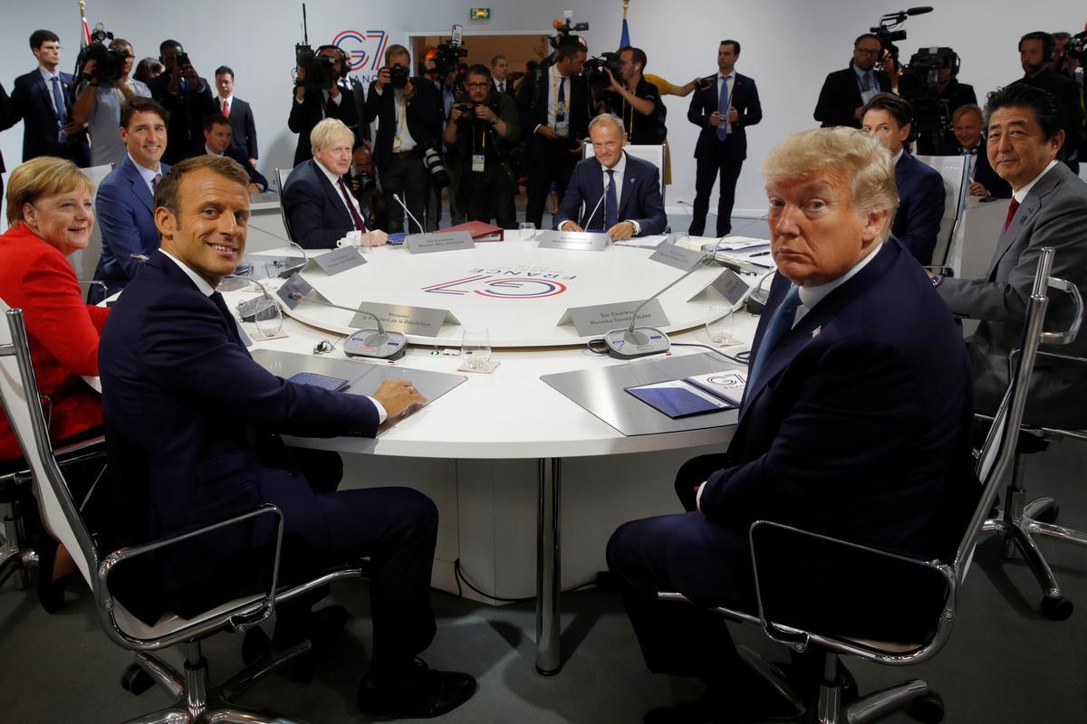 Macron sê G7 het ooreengekom oor gesamentlike optrede oor Iran om spanning te ontlont