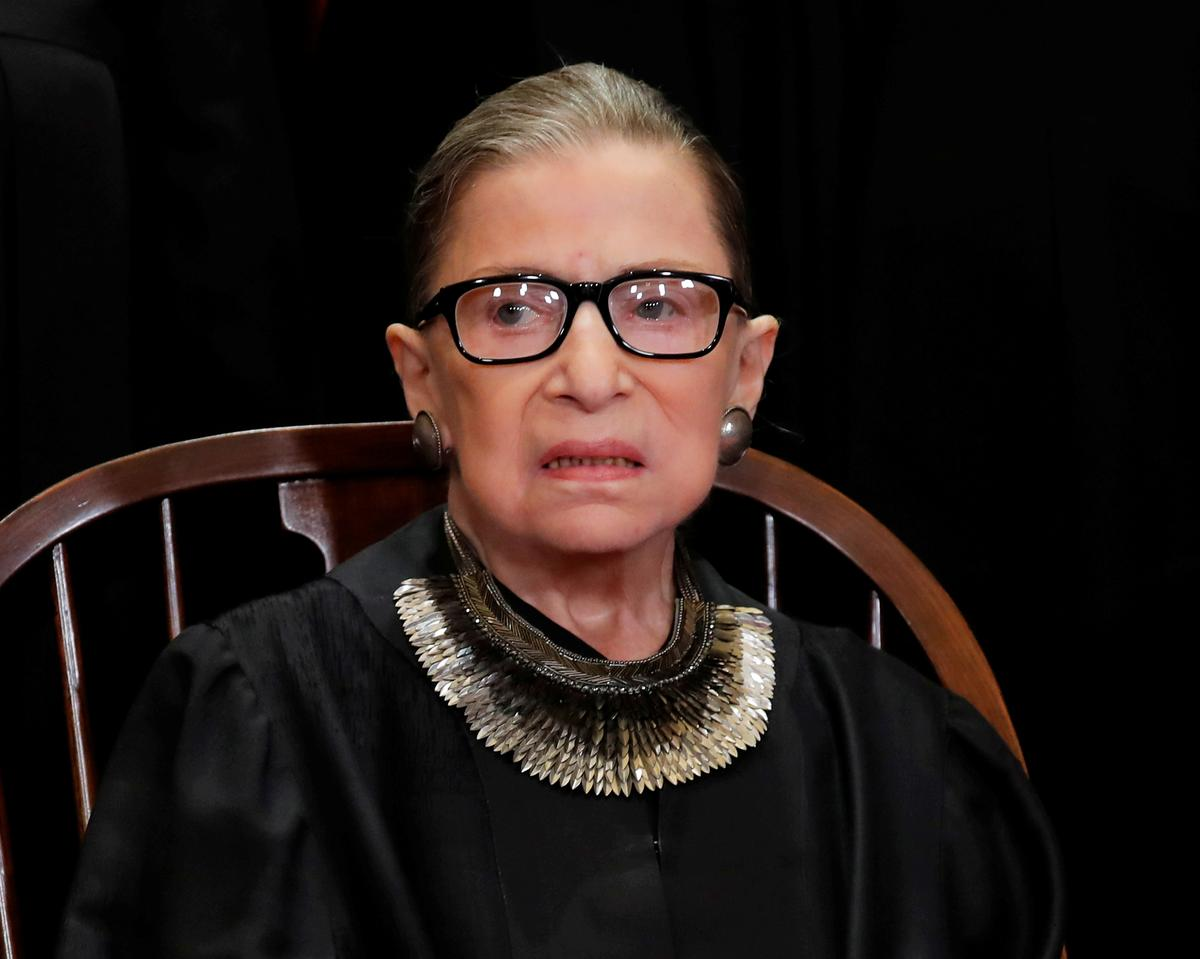 U.S. Justice Ginsburg makes first appearance since latest cancer scare