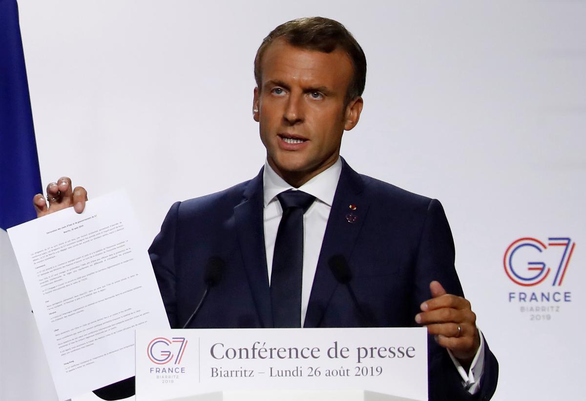 Macron sê Frankryk en die VSA het digitale belastingooreenkoms bereik