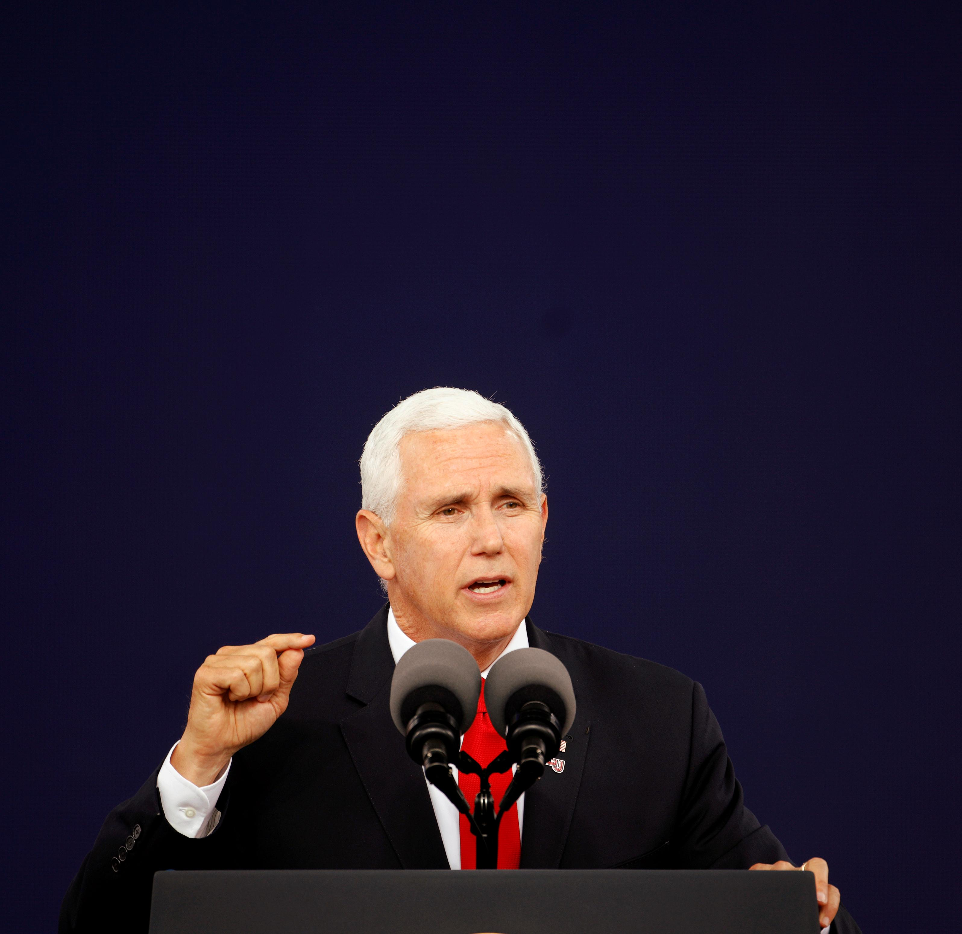 Vice President Pence: U.S. supports Israel's right to defend itself