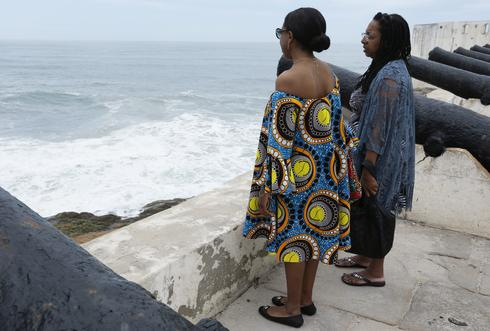 Mother and daughter revisit family's slavery past in Ghana