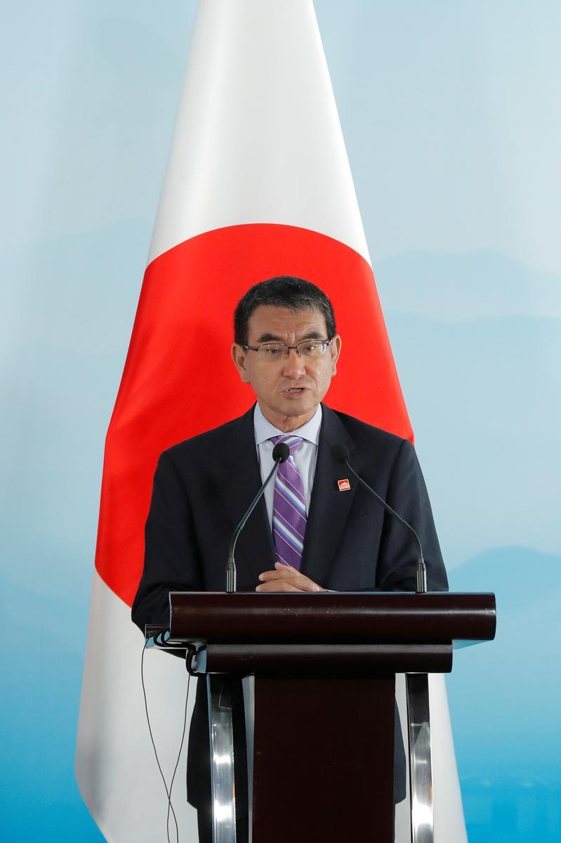 Japan se minister van buitelandse sake, Kono, kan in die kabinetskommeling verdedig: Sankei