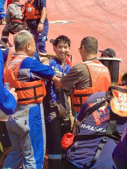 VSA red die laaste bemanningslid van 'n geteisterde Suid-Koreaanse skip