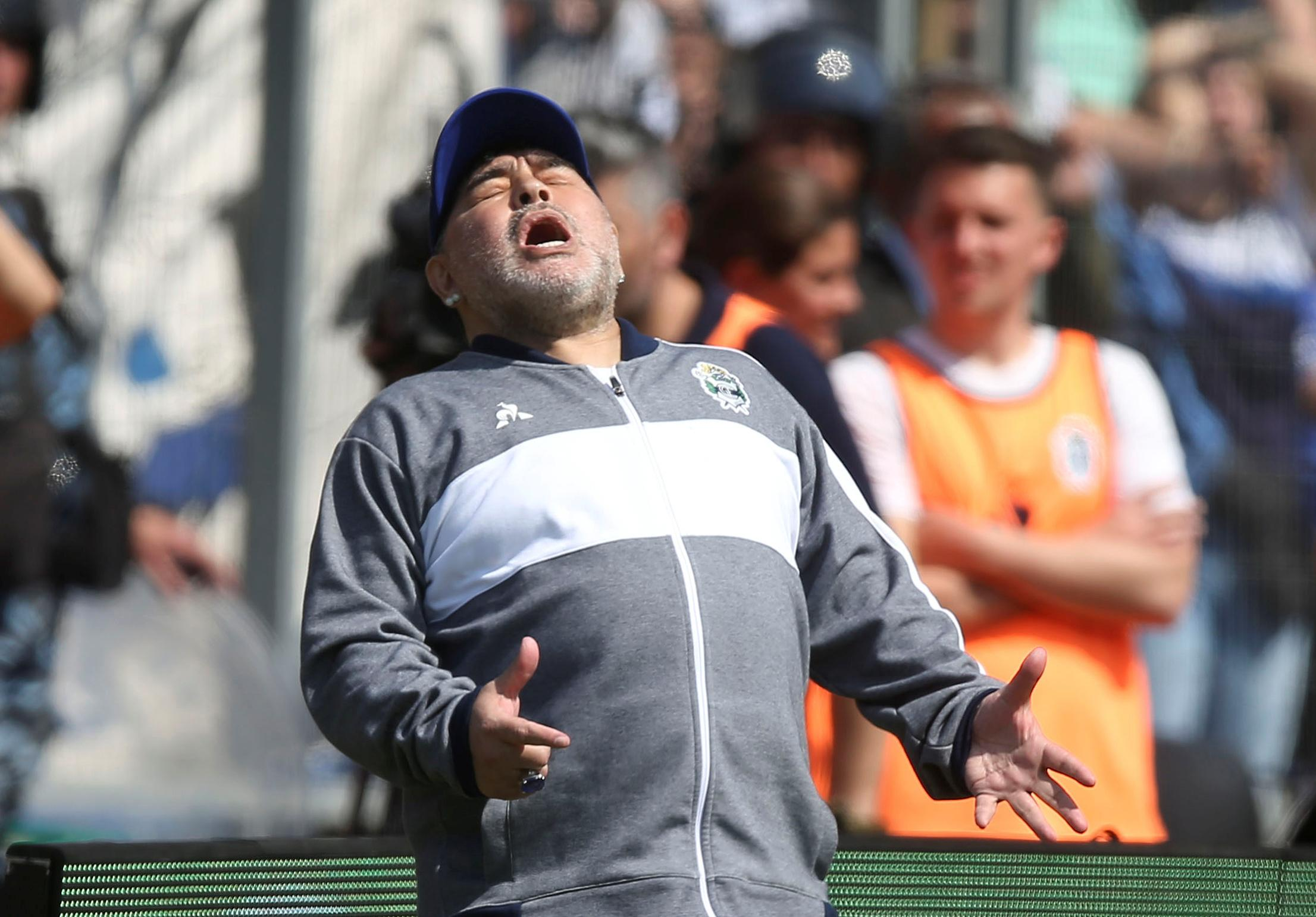 Maradona's club suffer 2-1 defeat on new coaching debut