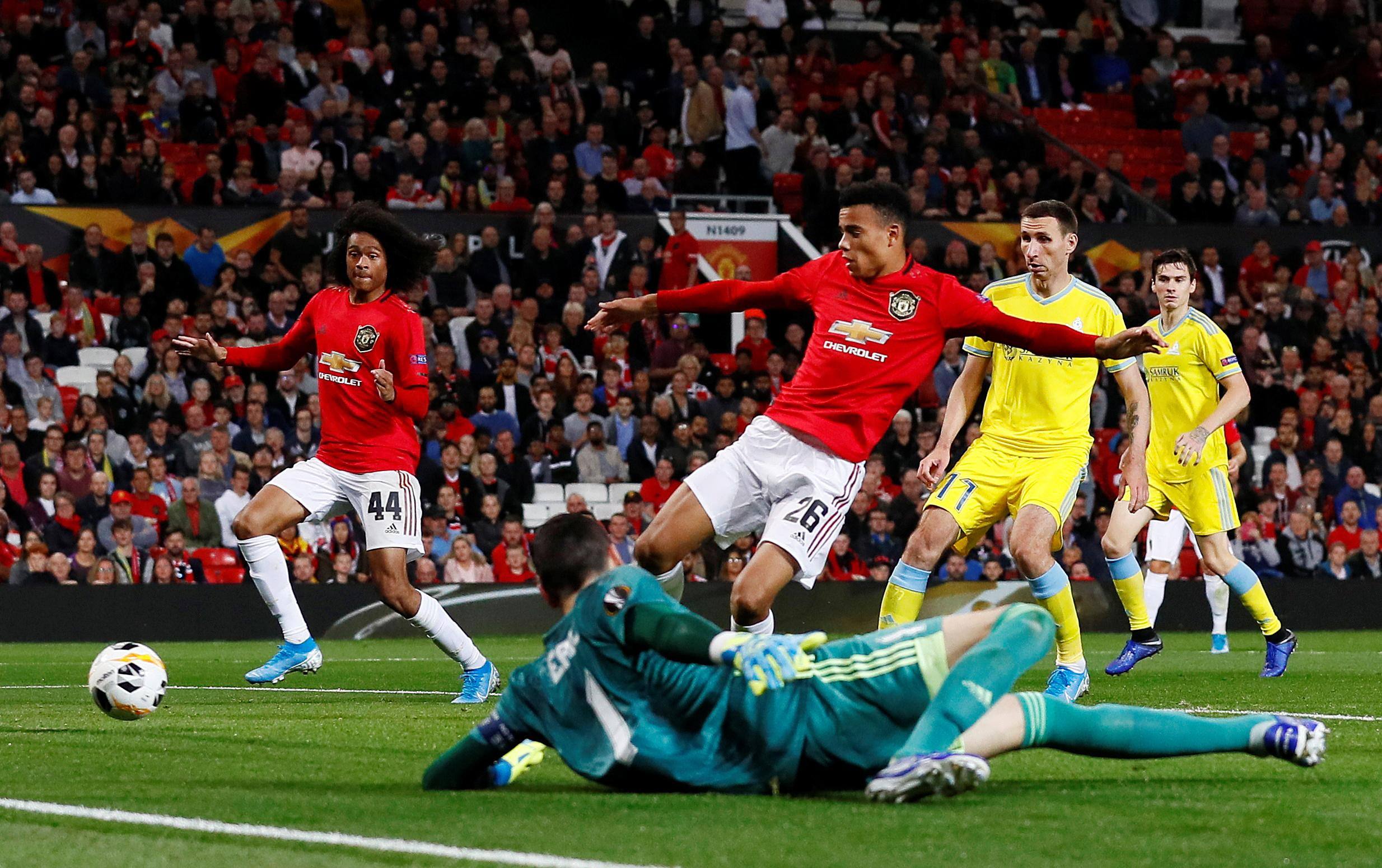 Greenwood grabs first goal for Man United in 1-0 win over Astana