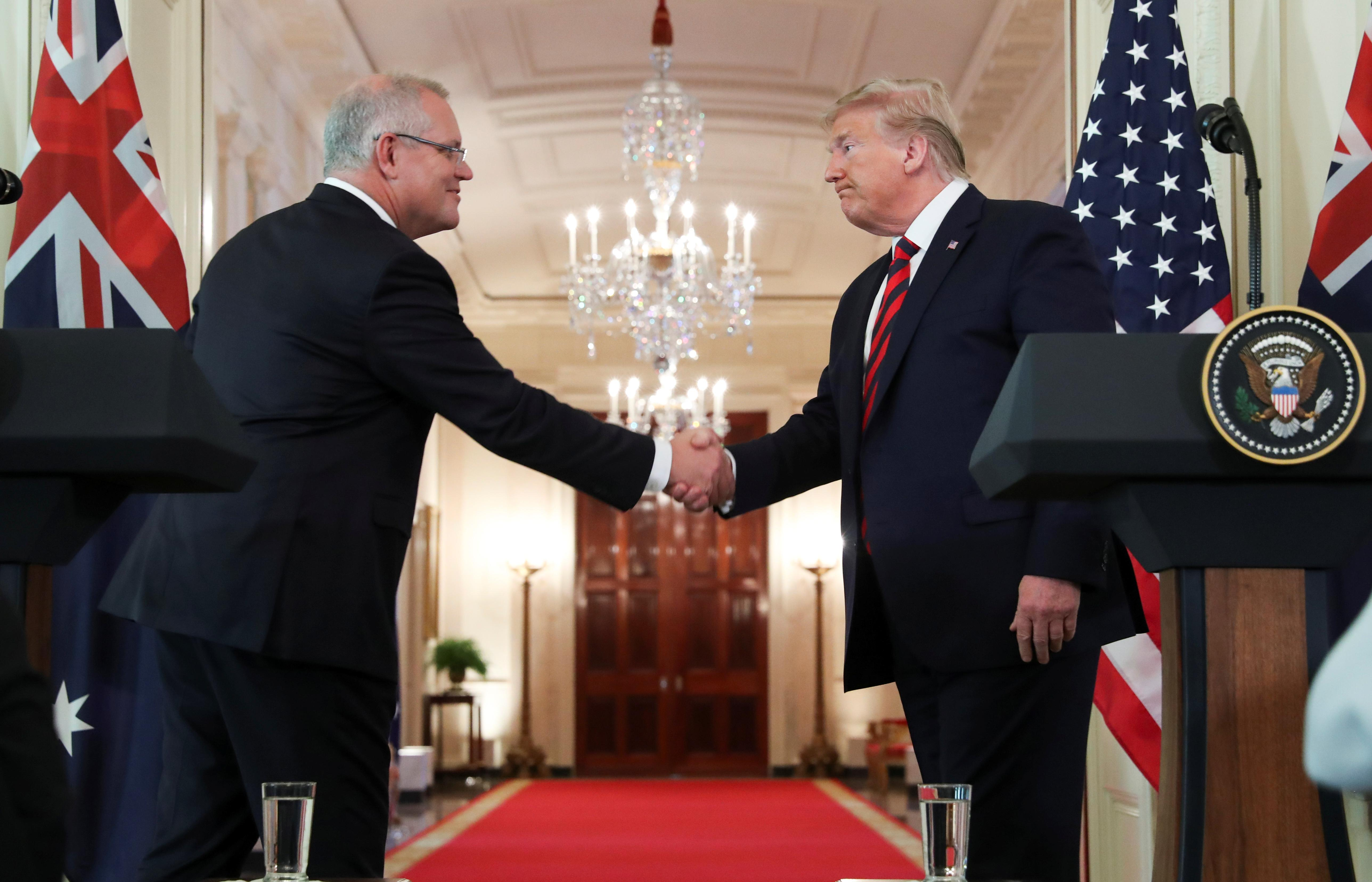 Trump welcomes Australia's PM, cementing strong trade, security ties