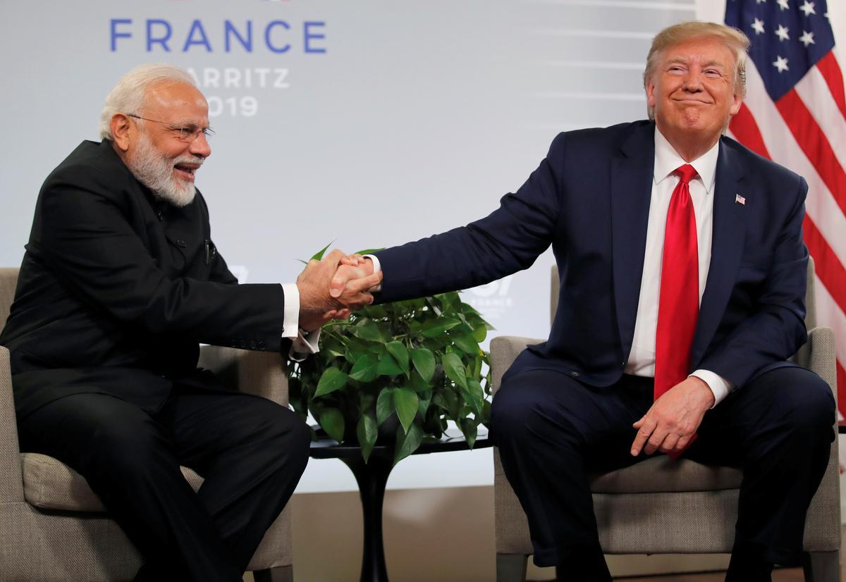 'Howdy, Modi!': Duisende, plus Trump, moet in Texas saamtrek vir die leier van Indië