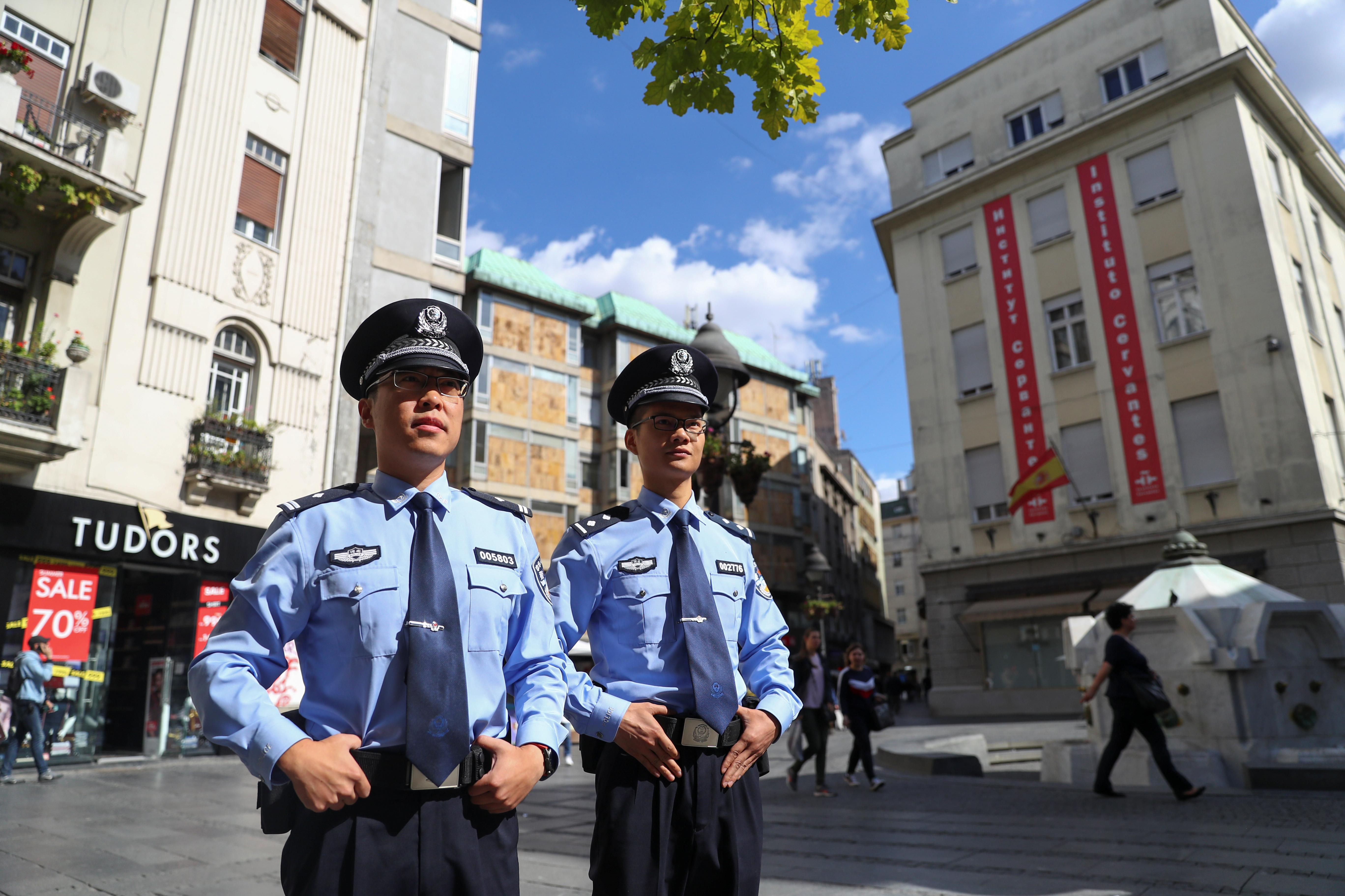 Chinese police officers join Serbian colleagues on the beat in...