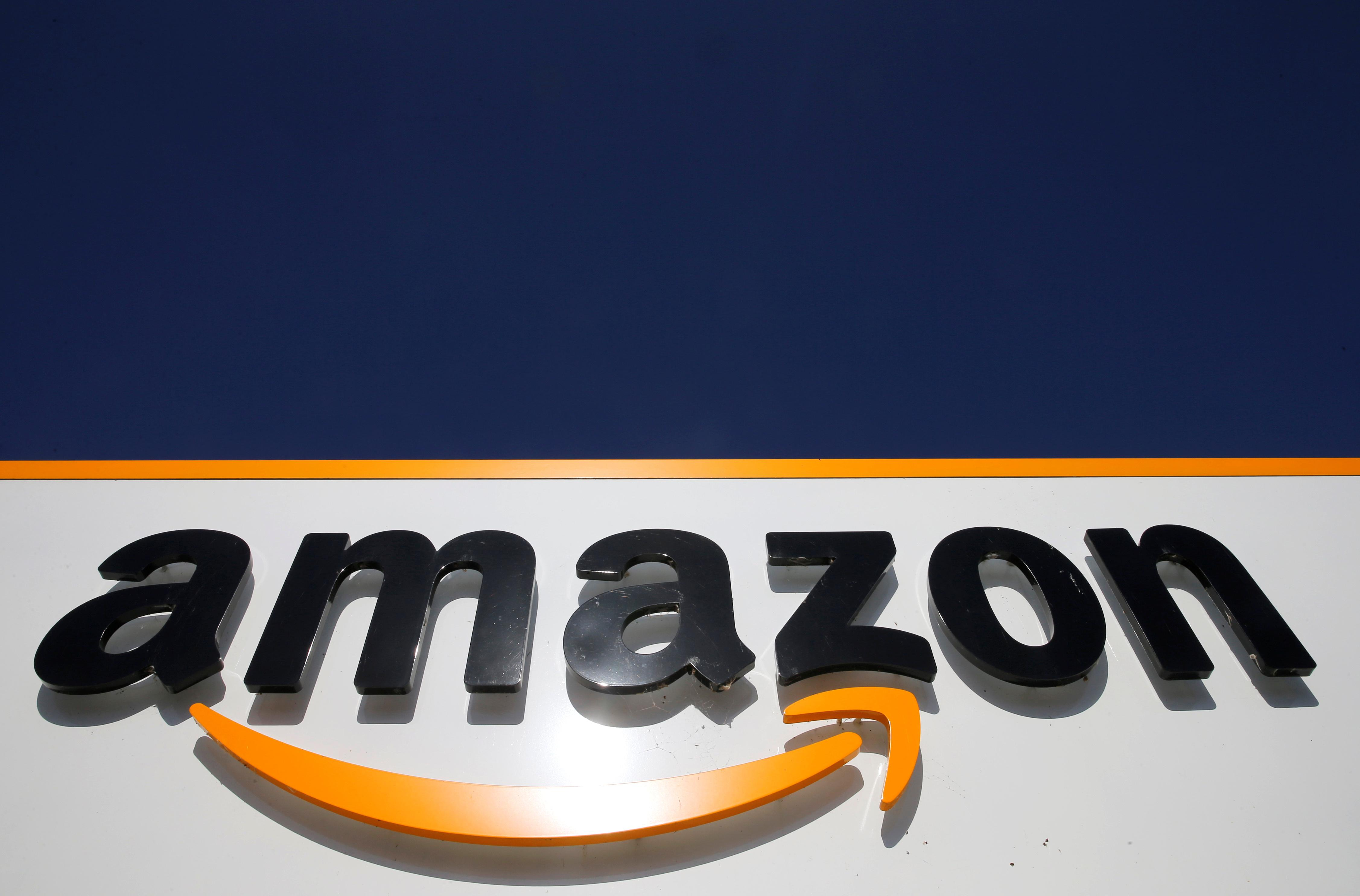 The logo of Amazon is seen at the company logistics centre in Boves, France, September 18, 2019. Pascal Rossignol