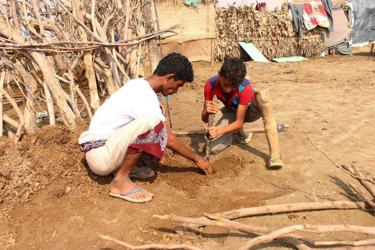 Lug tref slap, litteken Jemen se kinders