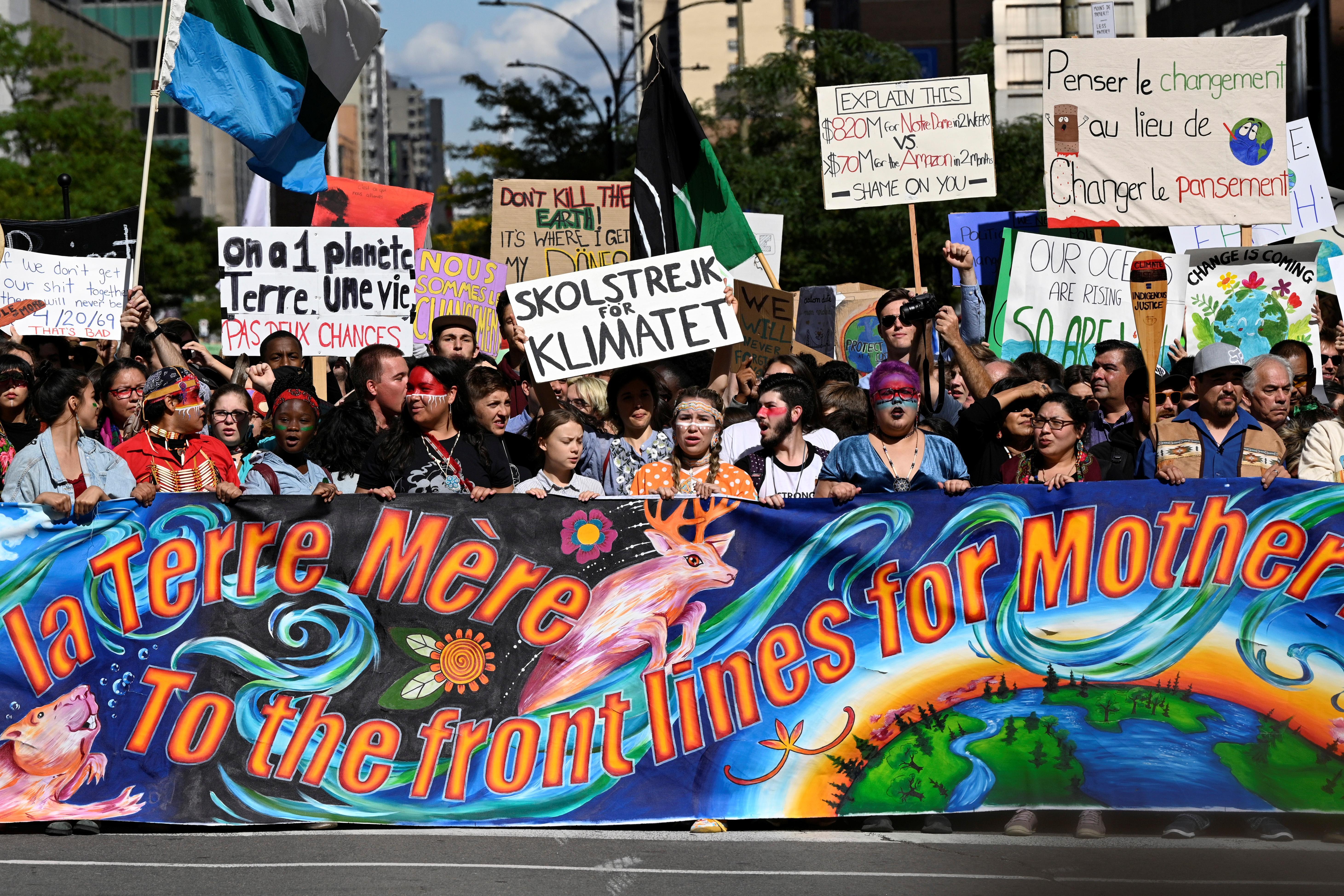 """Le mouvement climatique est maintenant """"trop fort à gérer"""" pour Trump et les critiques, Greta Thunberg"""