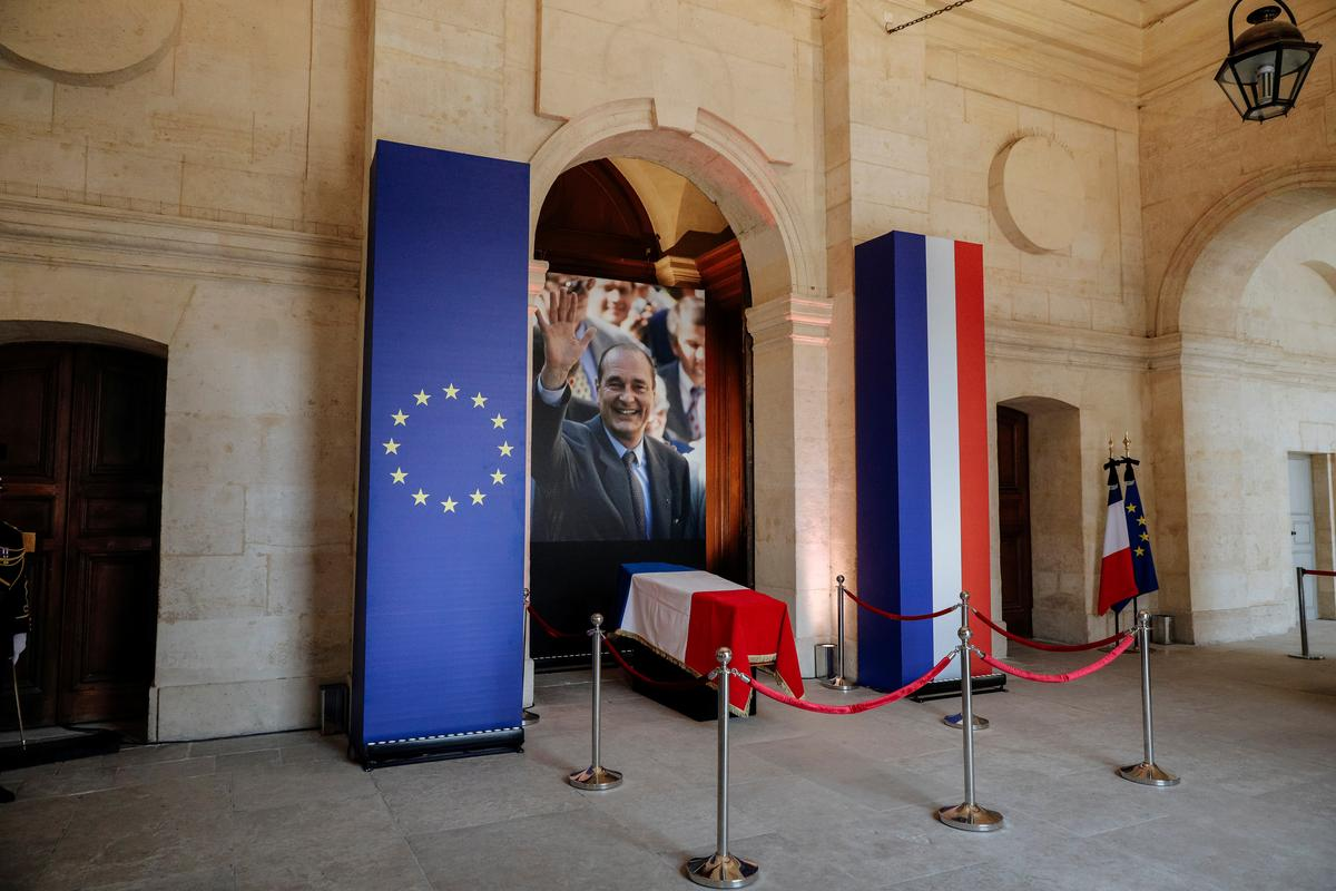 Wêreldleiers vergader vir die begrafnis van Jacques Chirac, Frankryk