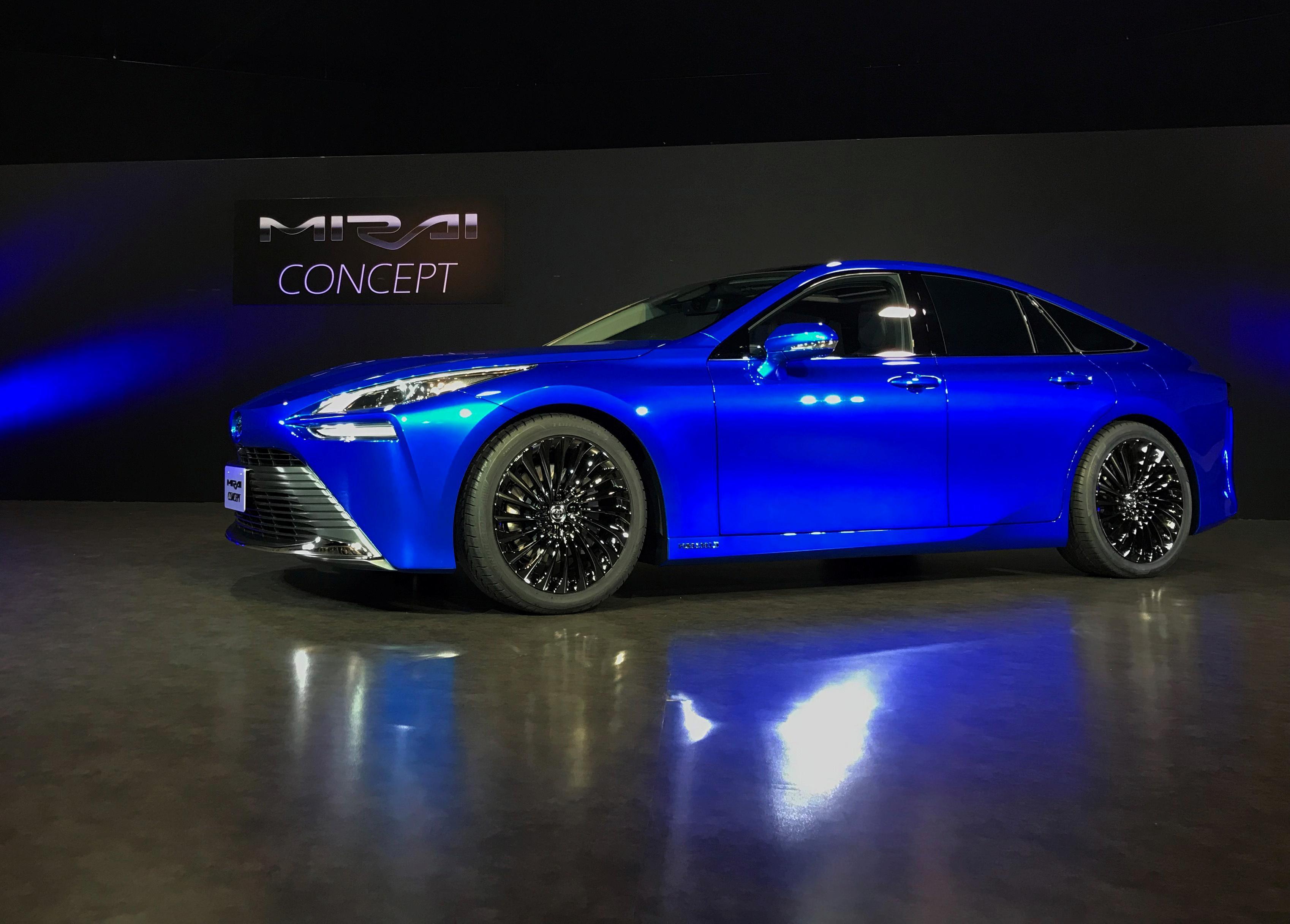 Toyota unveils revamped hydrogen sedan to take on Tesla