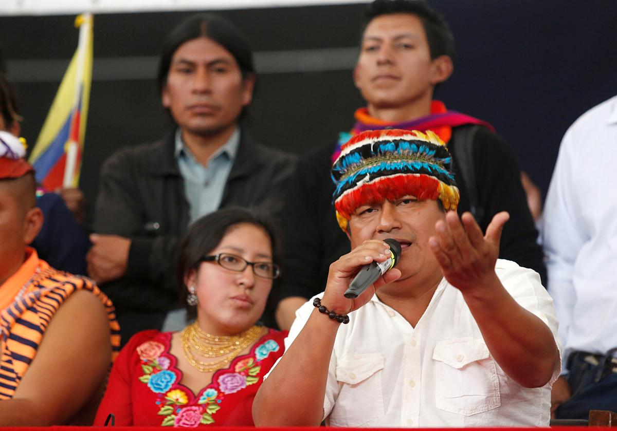 Ecuadorean indigenous leader says fuel prices must fall by Tuesday