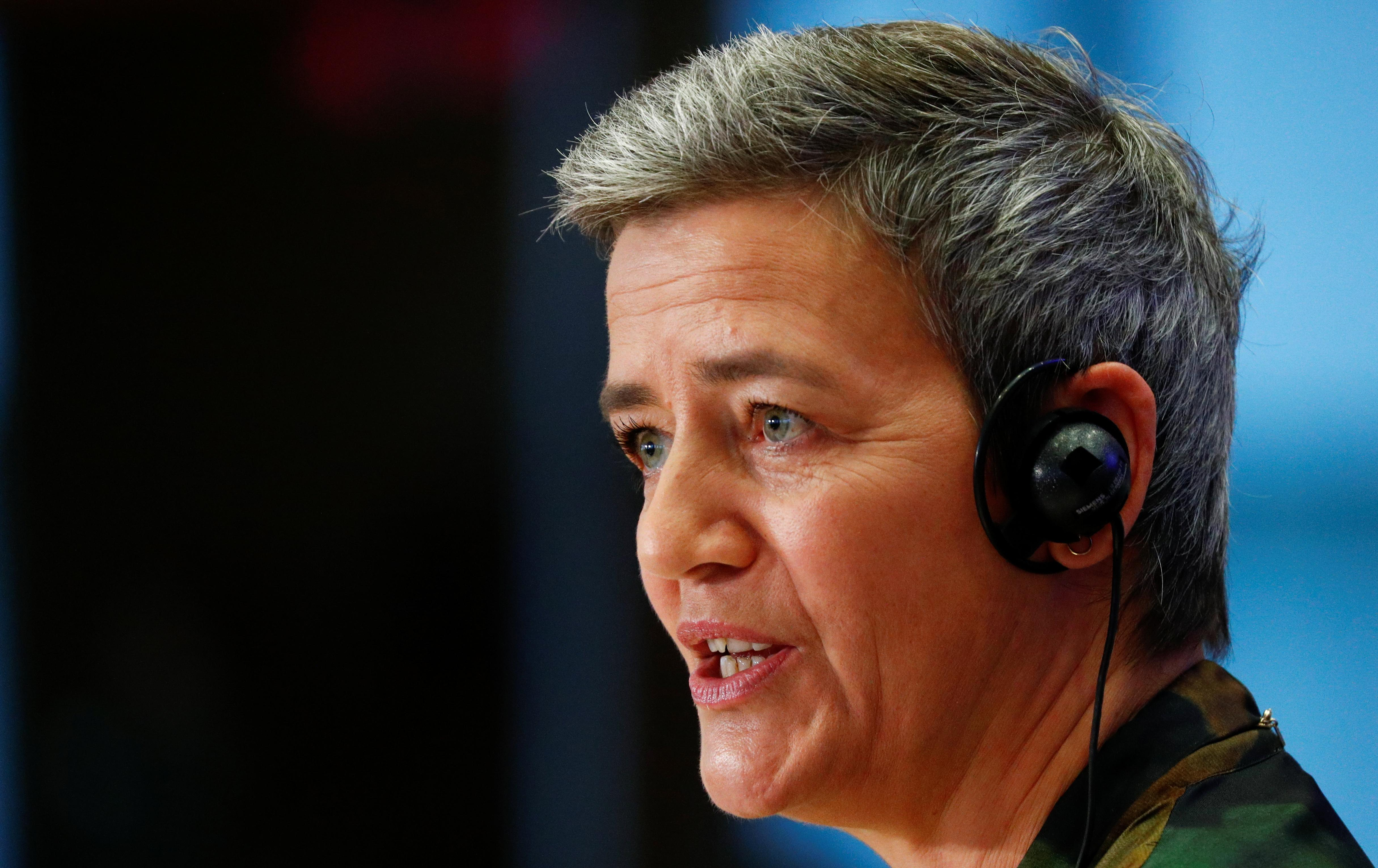 EU's Vestager to hold news conference 09:30 GMT, spotlight likely...