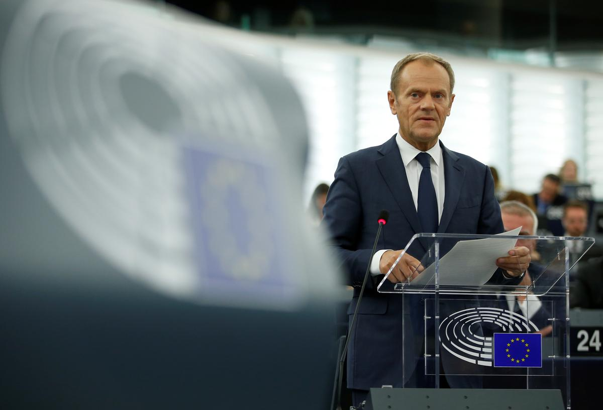 EU's Tusk taking Brexit request seriously, decision in days