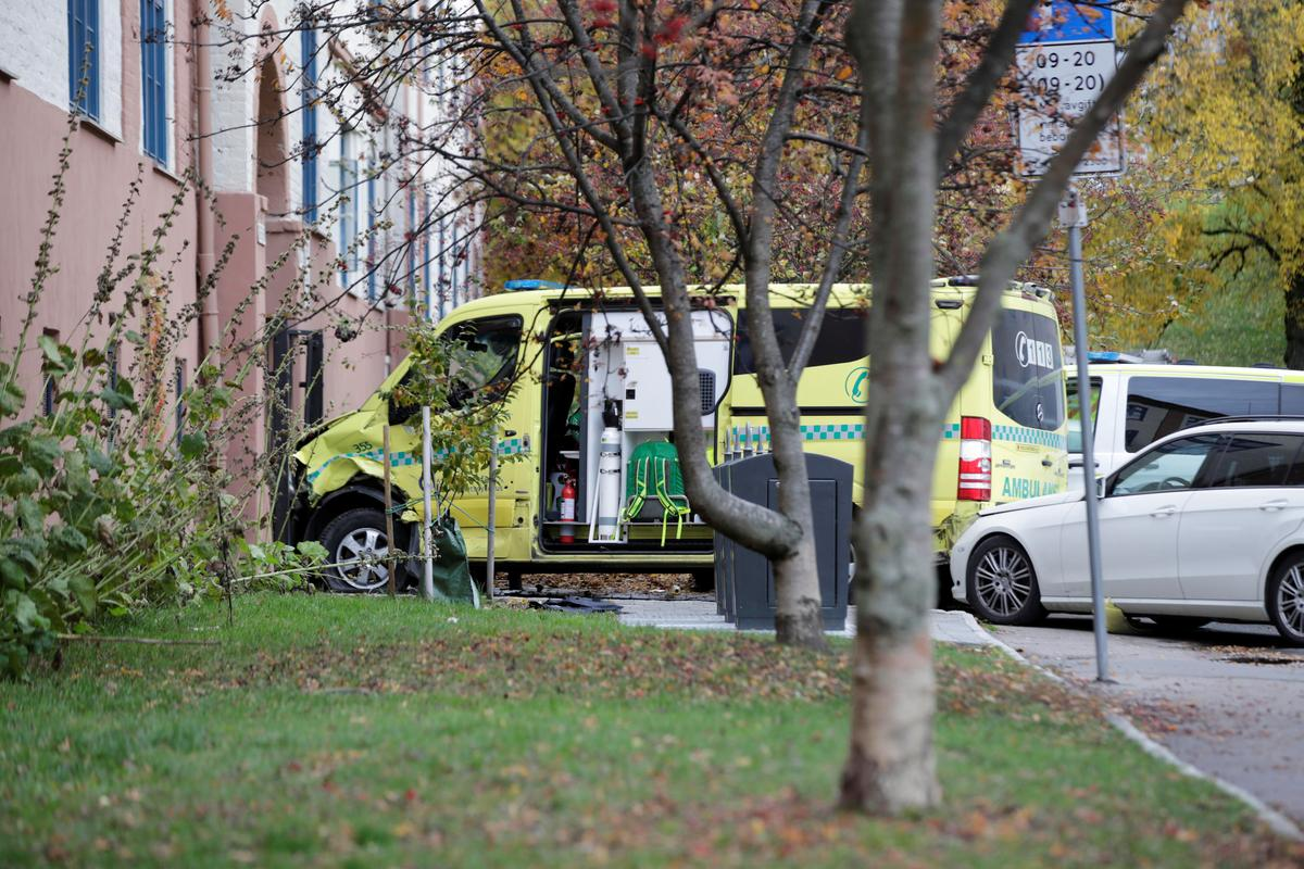 Armed man hits pedestrians with hijacked ambulance in Oslo -police