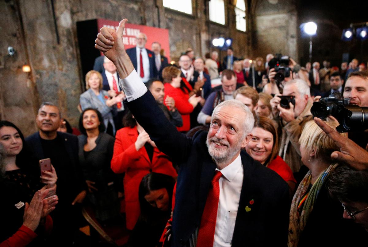 Offering 'real change', UK Labour's Corbyn vows to oust Conservatives