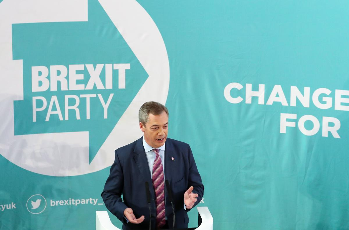 Brexit Party's Farage says will not challenge PM Johnson's Conservatives in 317 seats